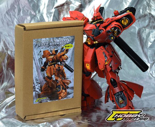 CJHOBBY Metal Detaljinformation Del 1  100 MG Sazabi ver Ka Gundam Kit - guld