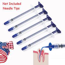 5pcs Disposable Dental Syringe Plastic Irrigator Endo Irrigation Syringes Blue