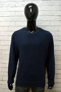 Maglione-Uomo-KAPPA-Taglia-XL-Cardigan-Felpa-Pullover-Sweater-Man-Blu-Cotone