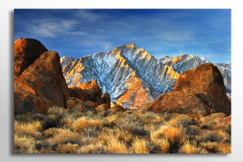 X LARGE CANVAS WALL ART STUNNING CALM RED MOUNTAIN BLUE SKY PICTURE NEW PRINT