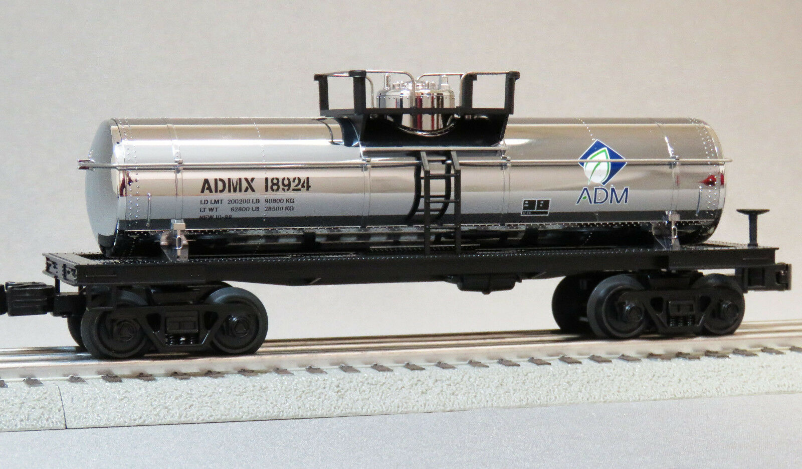 MTH RAILKING ADM 18924 SINGLE DOME TANK CAR O GAUGE train freight 30-4248-1T NEW