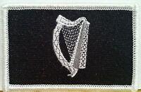 Irish Flag Military Patch With Velcro® Brand Fastener B & W Irish 8