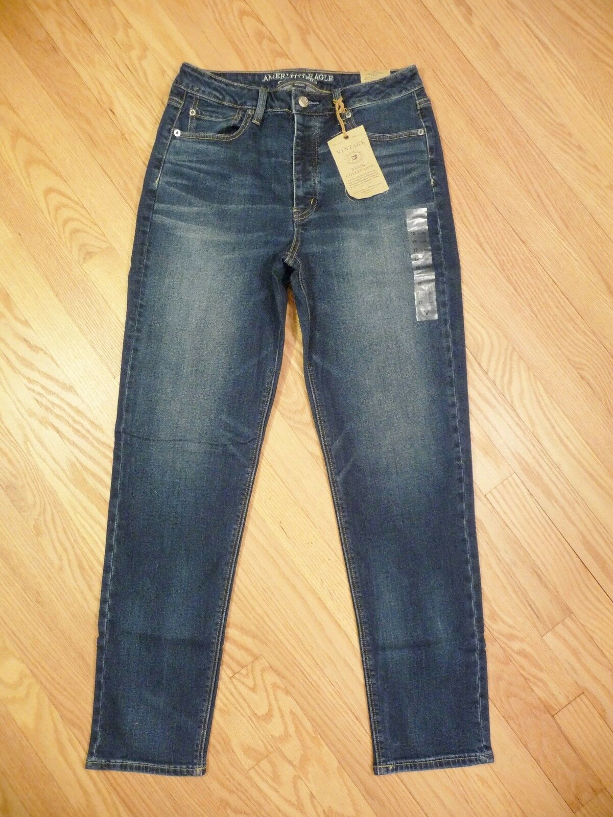 Womens NEW American Eagle Vintage Hi Rise Stretch Medium Denim Jeans 12 X-long