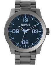 Nixon Corporal SS Watch Gunmetal/Blue Crystal NEW in box
