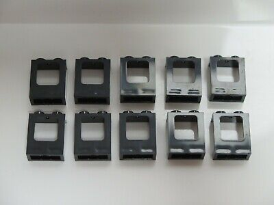LEGO 10 NEW BLACK WINDOW 1 X 2 X 2 2//3 PANE TWISTED BAR WITH ROUNDED TOP PARTS
