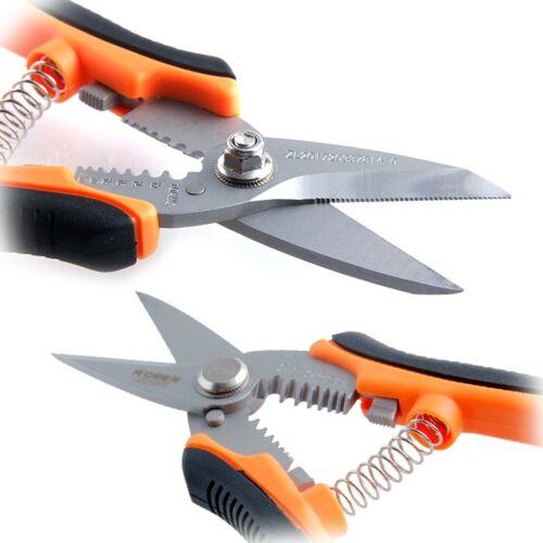 7 Zoll Crimpzange Abisolierschere Schere Kabelschneider Elektriker Werkzeug