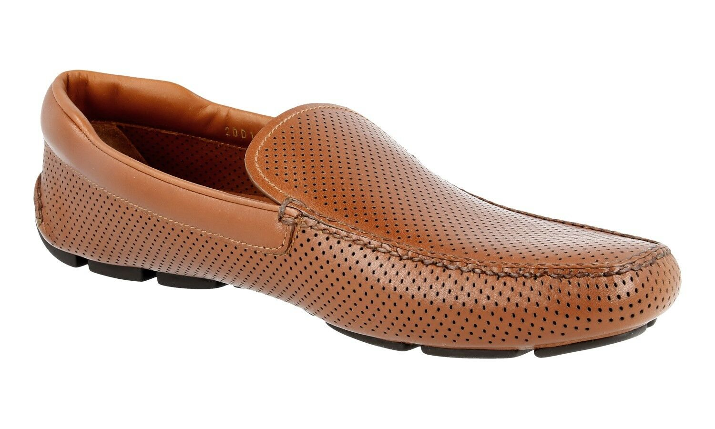 LUSSO PRADA Business Scarpe Loafer piquee 9 2dd115 MARRONE NUOVO NEW 9 piquee 43 43,5 Scarpe classiche da uomo bde7ce
