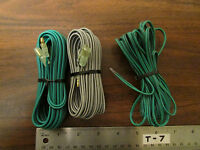 3 Rolls Green And Grey Zipcord Wire With Connectors