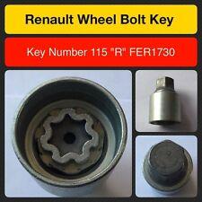 """Genuine Renault locking wheel bolt / nut key FER1730 115 """"R"""""""