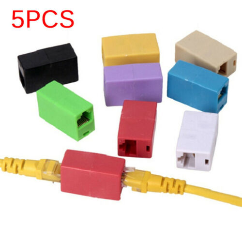5X RJ45 Female To Female Network Ethernet Connector Adapter Coupler Extender ZT
