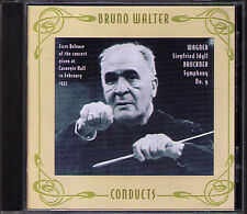 Bruno WALTER BRUCKNER Symphony No.9 WAGNER Siegfried-Idyll CD Carnegie Hall 1957