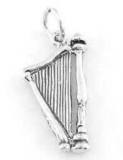 STERLING SILVER CUPID'S HARP CHARM/PENDANT