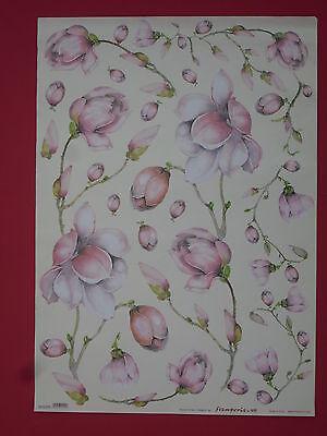 thème:fleur, lilas 68X48cm Papier pour découpage technique serviette