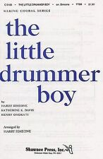 The Little Drummer Boy TTBB Piano Vocal Choral Voice Learn Play Music Book