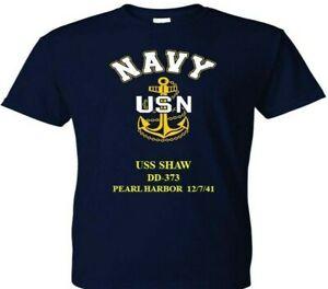 USS-SHAW-DD-373-PEARL-HARBOR-WW-II-VINYL-amp-SILKSCREEN-NAVY-ANCHOR-SHIRT