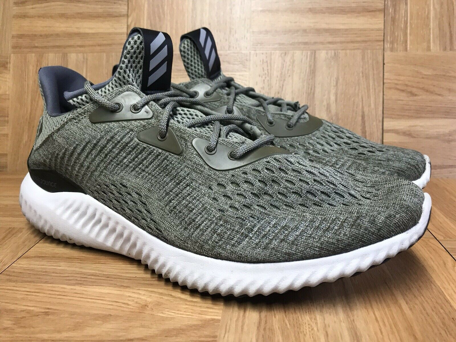 RARE Adidas Alphabounce Performance Running shoes Olive Army Green SZ 11 shoes