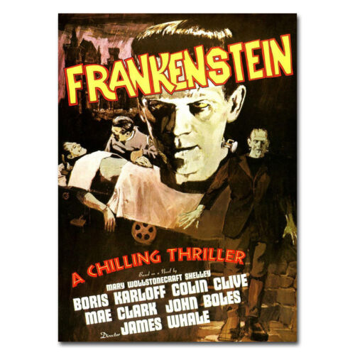 Frankenstein Vintage Classic Horror Movie Art Silk Poster 13x18 16x22 inch