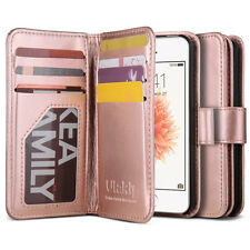 Leather Wallet Flip Case Cover Built-in Credit/ID Card Slots for iPhone 5s 5 SE
