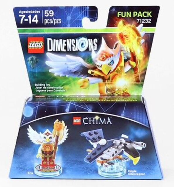Lego Dimensions Chima 71232 Eris /& Eagle Interceptor Fun Pack 59 Pcs Brand New