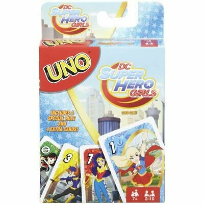 Uno - Dc Super Hero Girls - Jeu De Cartes - Mattel Games -