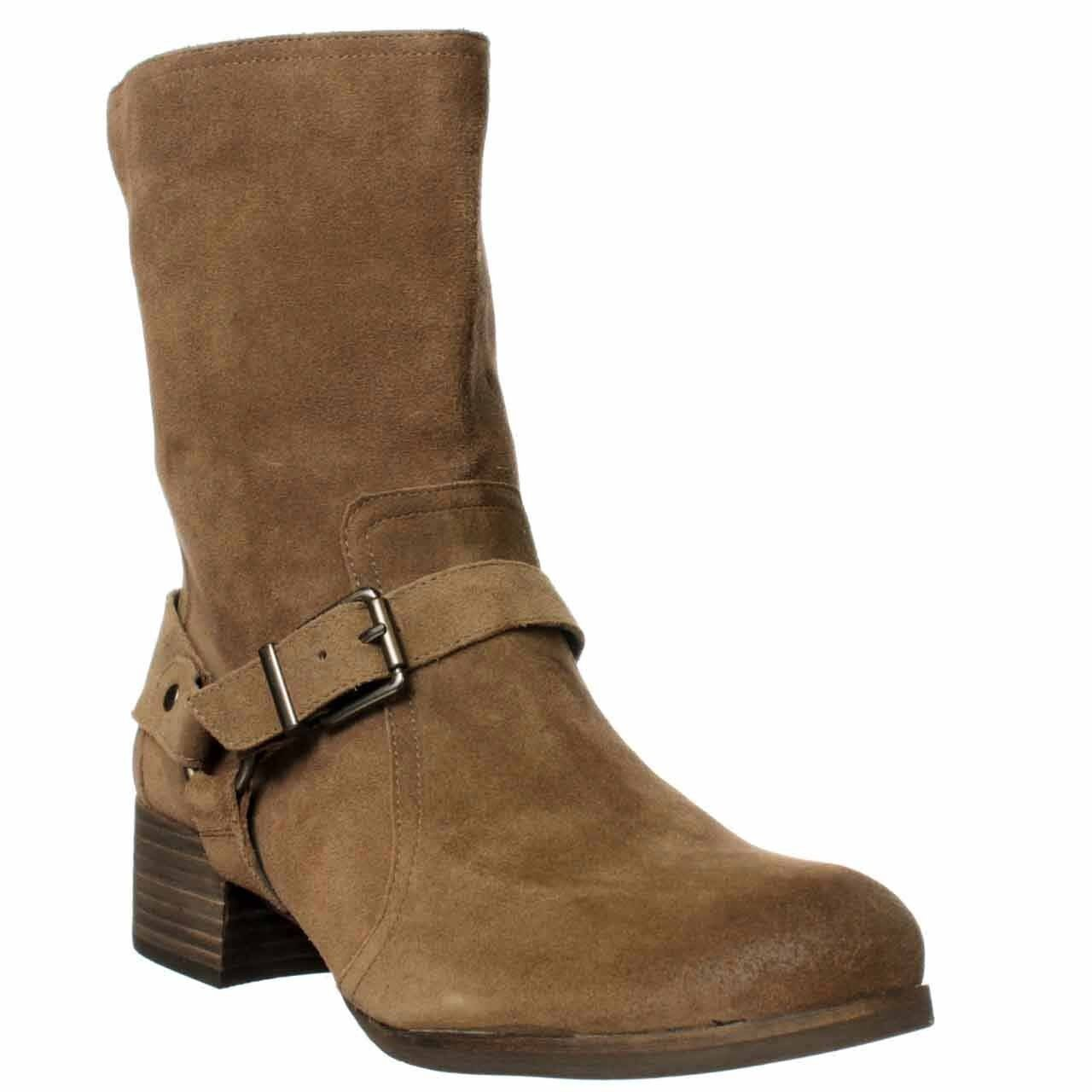 Jessica Simpson Annine Veronica Suede Womens Fashion Ankle Boots Mink 6.5M New