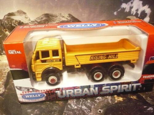 LKW ca.12,5cm lang Welly® Urban Spirit Mercedes Kipper Straßenbau Pritschen