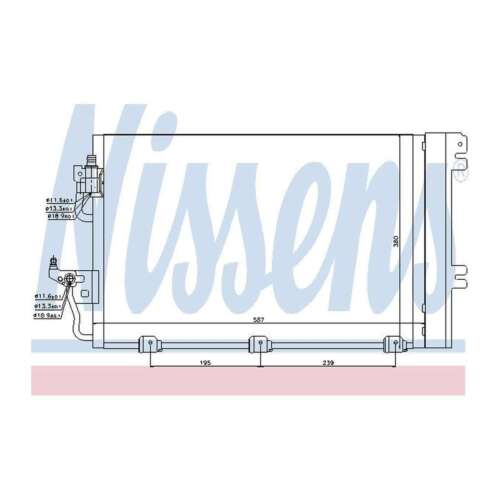 Fits Opel Astra H 1.8 Genuine OE Quality Nissens A//C Air Con Condenser