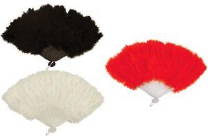 Hand-held-fan-plume-souple-Burlesque-20s-tambour-mariage-Mesdames-robe-fantaisie