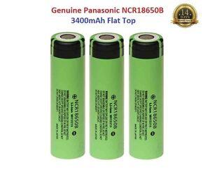 3x-Genuine-Panasonic-18650-3400mAh-3-7v-Rechargeable-Lion-Battery-Vape-Flat-Top
