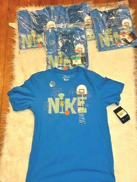 New Nike Spongebob Squidward Kyrie Irving T Shirt Basketball Blue [Sizes S XL]