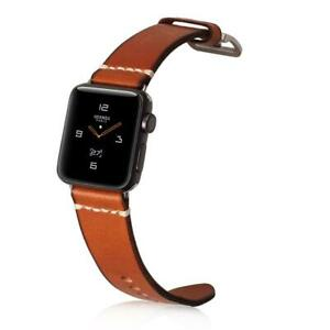 Mkeke-Apple-Watch-Band-42mm-44mm-Genuine-Leather-iWatch-Bands-E-Brown