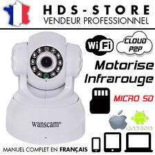 WANSCAM JW0009 BLANC CAMERA RESEAU IP WIFI P2P PORT MICRO SD INFRAROUGE QR CODE