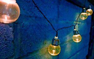 Energia solare rétro lampadina filo di luci per giardino