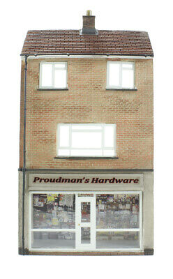 Di Animo Gentile Bachmann 00 Scenecraft - Low Relief Hardware Store With Maisonette 44-256