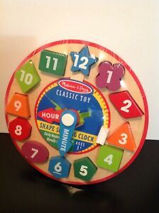 NEW Melissa And Doug Shape Sorting Clock Wooden Toy, Still ...