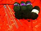 250g de fil a tricoter ,noir et anthracite +3paires d aiguilles offertes