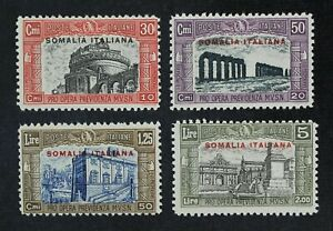 CKStamps-Italy-Stamps-Collection-Somalia-Scott-B25-B28-Mint-H-OG