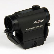 Holosun Red Dot Dual Reticle Solar Sight Flip Caps QR Mount (Model# HS515C)