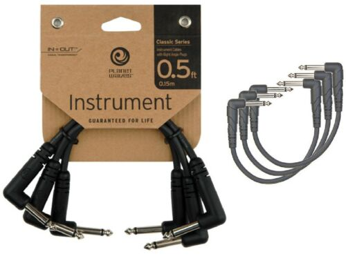 "Planet Waves 6/"" Instrument Patch Cables Leads Right Angle Plugs Pack of 3"