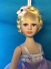 "6"" Poseable Porcelain Ballerina Doll / Christmas Ornament ~ Purple Tutu"