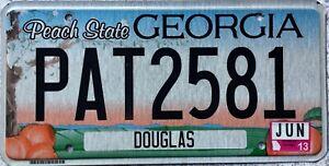 GENUINE-American-Georgia-Douglas-Co-USA-License-Licence-Number-Plate-PAT-2581