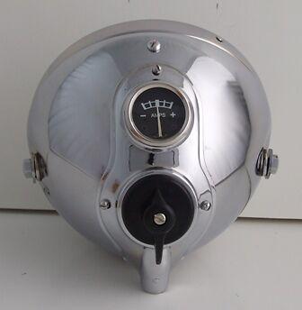 "7"" Lucas type chrome With Panel Headlight Headlamp Bsa Triumph Norton ssu700 ajs"