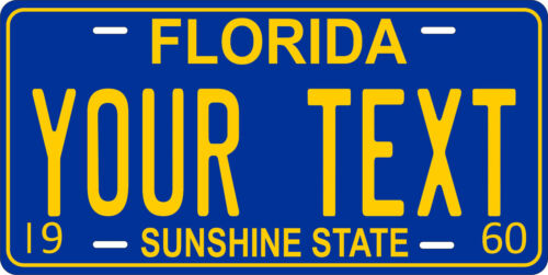 Florida 1960 License Plate Personalized Custom Auto Car Bike Motorcycle Moped