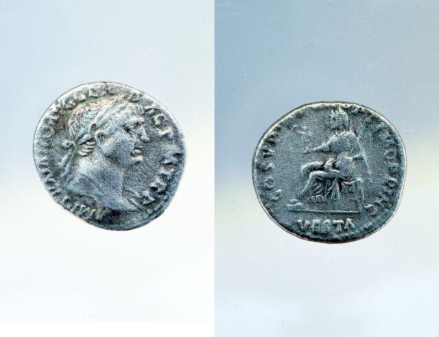 Pièce romaine - Roman Coin - Denier  TRAJAN - SPQR OPTIMO PRINCIPI - Vesta #180