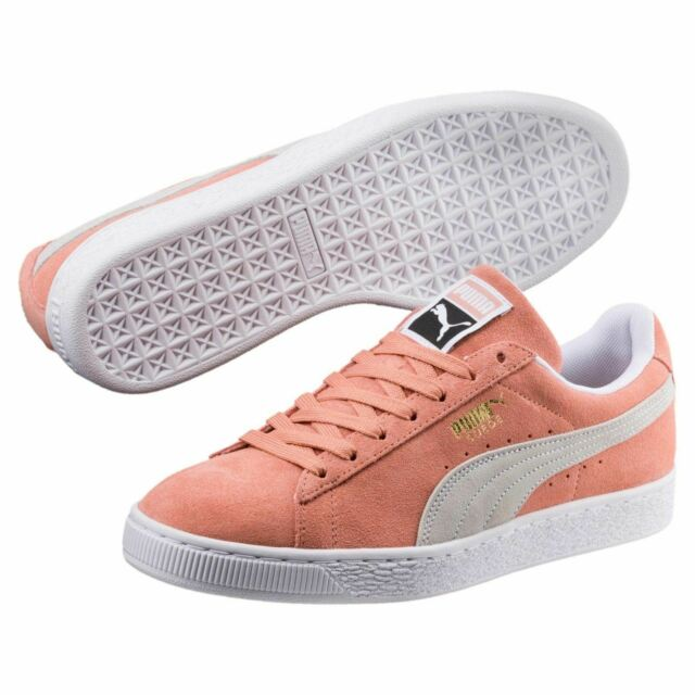 separation shoes bbd39 934b1 [365347-06] Mens Puma Suede Classic Sneaker - Pink White