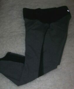 Lululemon Train Times Crop Size 4 Heathered Black High Rise Pant Legging
