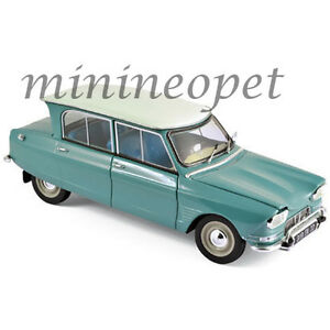 NOREV 181536 1964 64 CITROEN AMI 6 1/18 DIECAST MODEL CAR JADE GREEN