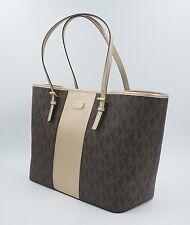 MICHAEL KORS Tasche Jet Set Handtasche, Signature, Braun, Gold Uvp: 325Euro, NEU
