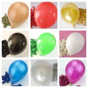 "100 Latex BALOONS 10/"" BALLONS helium Metallic BALLOONS Party Birthday marriage a"