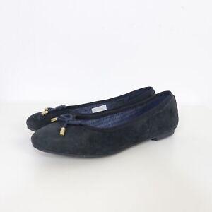pretty cool famous brand store Details zu TOMMY HILFIGER Ballerinas Velours Blau Navy Gr. EUR 37